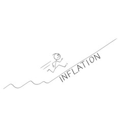 Frustrated man or businessman running uphill vector