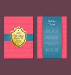 golden label premium quality exclusive since 1980 vector image