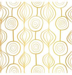 Golden organic shapes seamless pattern vector