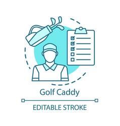 golf caddy concept icon sport coach trainer idea vector image