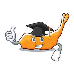 Graduation tempura character cartoon style vector