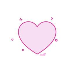 heart love icon design vector image