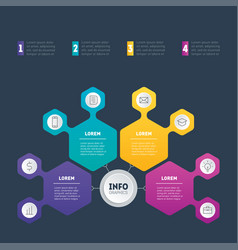 infographic or business presentation with 4 vector image