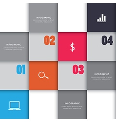 Infographic square box for business project vector