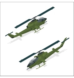 Isometric Military helicopter or army helicopter vector image