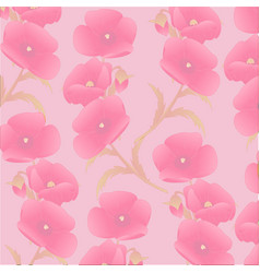 Light pattern of poppies vector