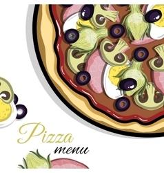 Menu For Pizzeria 4 vector