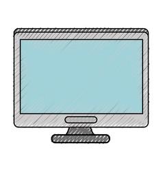 Modern tv technology vector