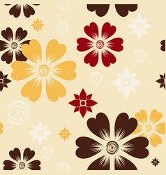 pattern 0088 autumn flowers vector image