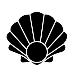 pearl shell icon black sign vector image