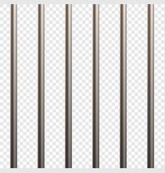 Prison cell bars vector