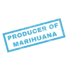 Producer of marihuana rubber stamp vector