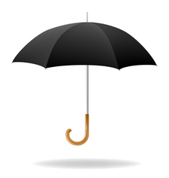 Realistic Black Umbrella vector image