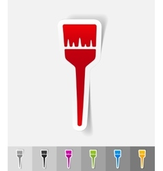 realistic design element brush vector image