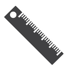 Ruler solid icon education and school vector