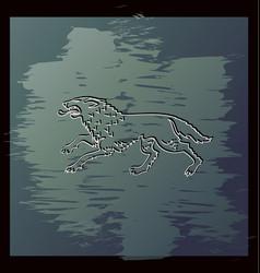 Running wolf ferocious beast vector