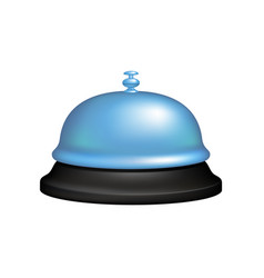service bell in black and blue design vector image