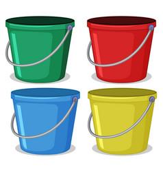 Set colourful bucket vector