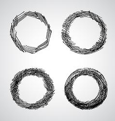 Set Grunge Frame vector image