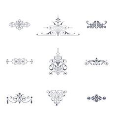 Set of decorative flourish ornaments vector
