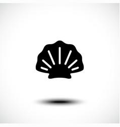 Shellfish or seafood icon vector