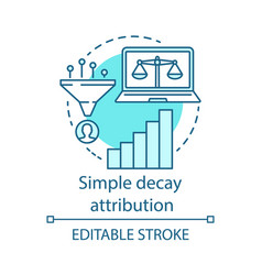 Simply decay attribution blue concept icon vector