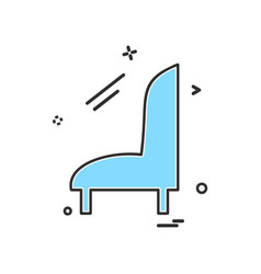 sofa icon design vector image