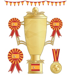 spain football trophy vector image