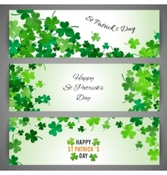 St Patricks Day banner set vector