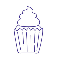 Sweet cupcake dessert baked isolated icon design vector
