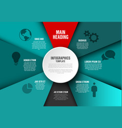 teal infographic diagram template vector image
