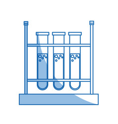 test tube rack laboratory chemistry equipment vector image