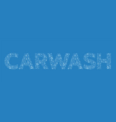 text from droplets texture word carwash vector image