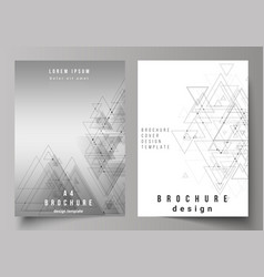 the editable layout of a4 format cover vector image