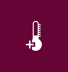 thermometer icon simple vector image