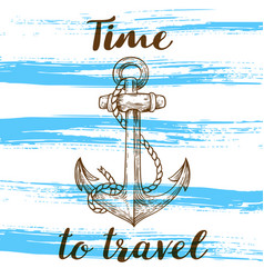 vintage blue travel background vector image