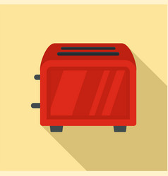 vintage toaster icon flat style vector image