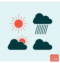Weather icon isolated vector image