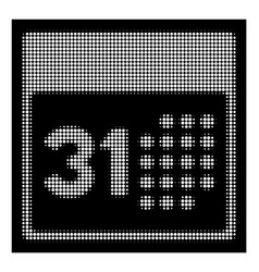 white halftone last month day icon vector image
