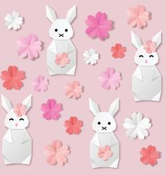 White origami paper vector