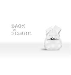 white school bag light back to school poster vector image