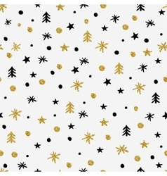 Winter graphic seamless pattern vector image