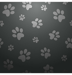 black footprints seamless pattern vector image vector image