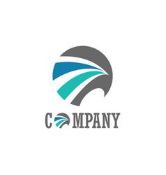 circle loop company logo vector image