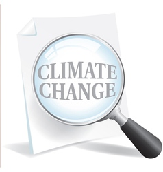 Climate Change and Global Warming vector image vector image