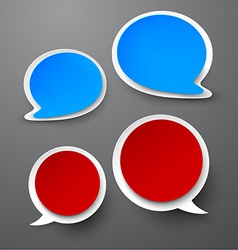 Paper set of rounded speech bubble vector image vector image