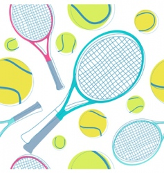 tennis pattern vector image vector image
