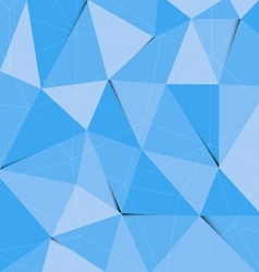 Blue polygon abstract triangle background vector image