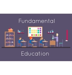 Chemistry education class room flat design vector image vector image