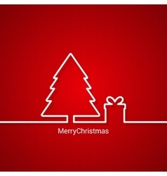 christmas tree web design red background vector image